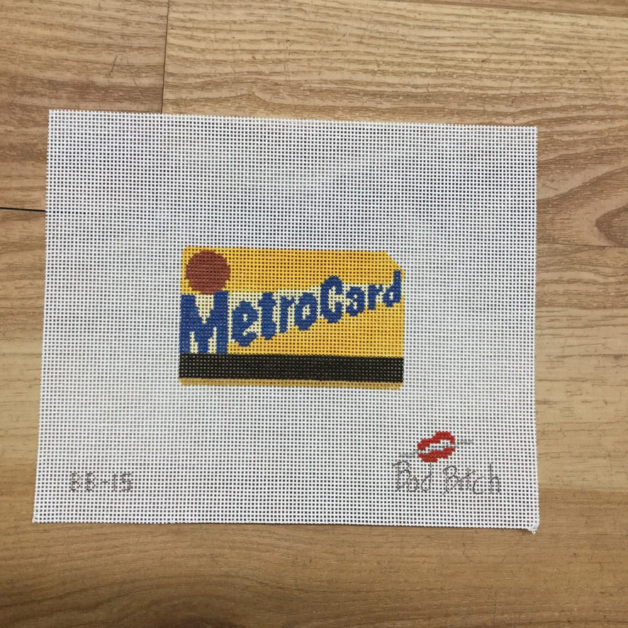 MetroCard Canvas - needlepoint