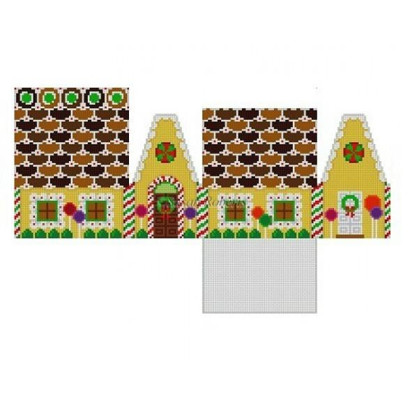 Butterscotch & Wafer Gingerbread House Canvas - needlepoint