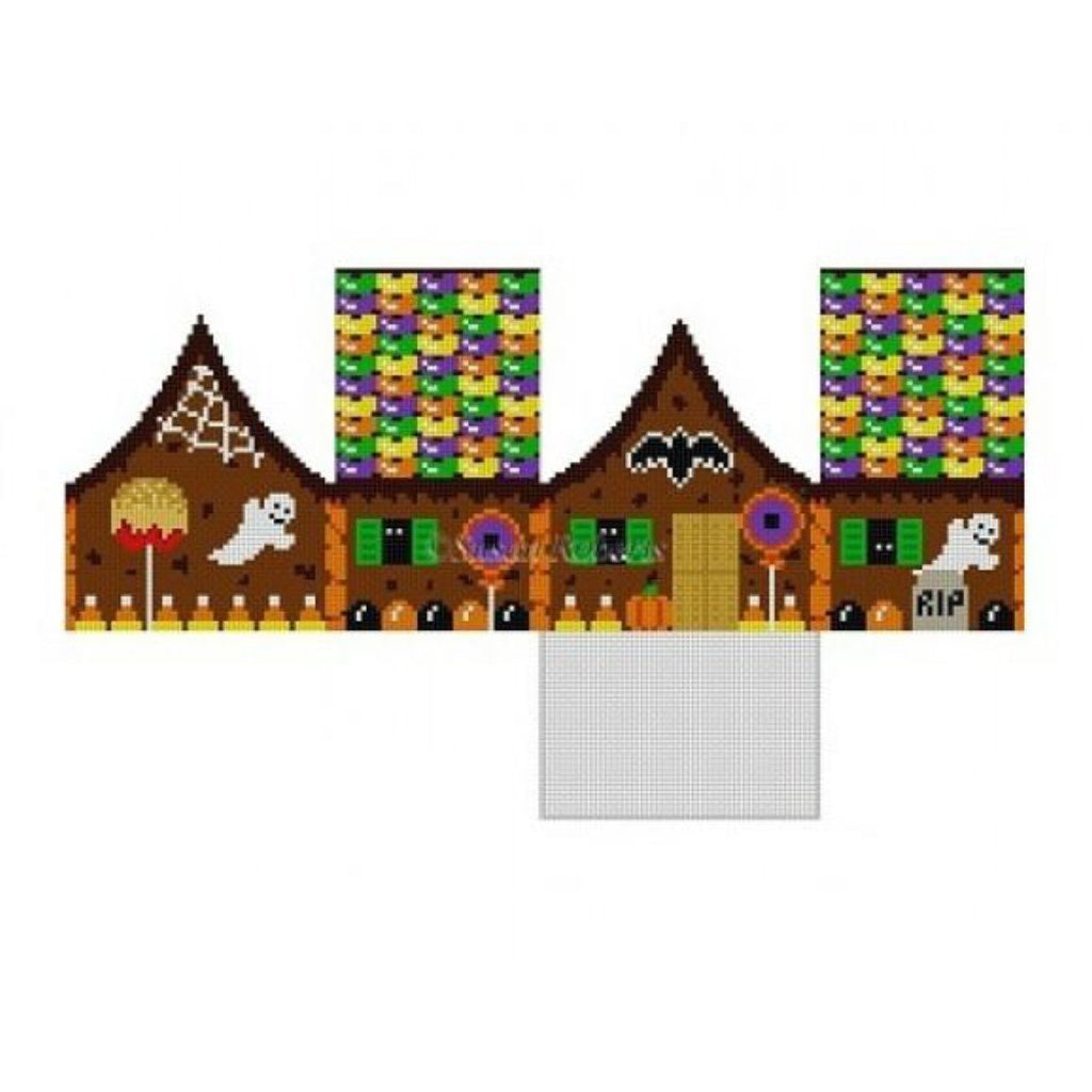 Halloween 3D House Canvas - needlepoint