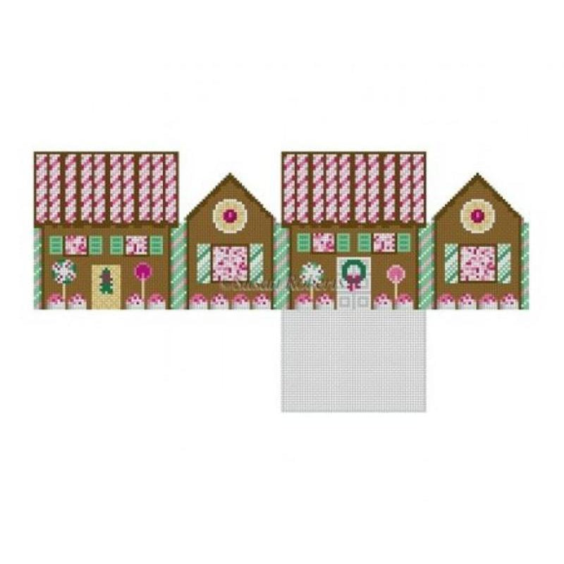 Peppermint & Chocolate Gingerbread House Canvas-Needlepoint Canvas-Susan Roberts-KC Needlepoint