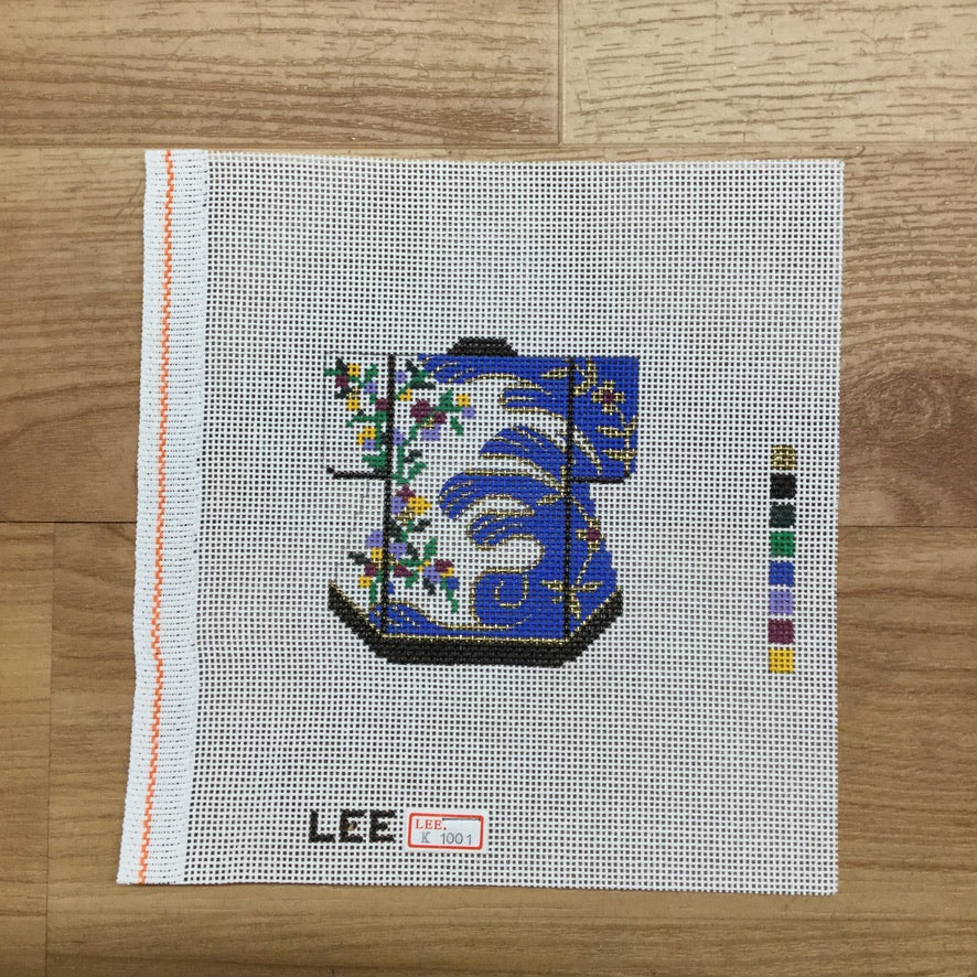 Blue and White Kimono Canvas-Needlepoint Canvas-Lee Needle Arts-KC Needlepoint