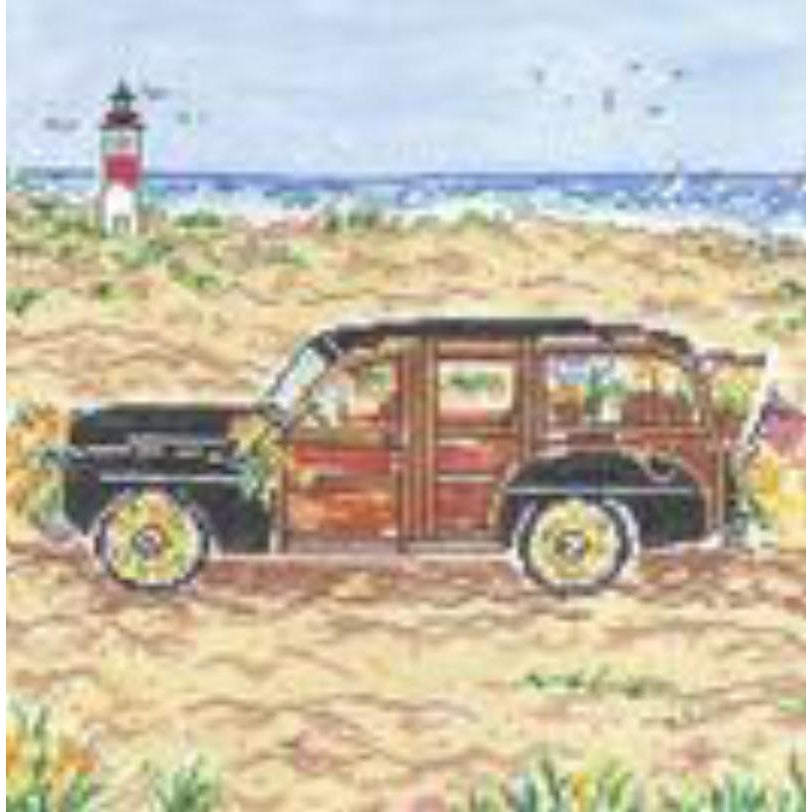 Island Woody Large Needlepoint Canvas - needlepoint