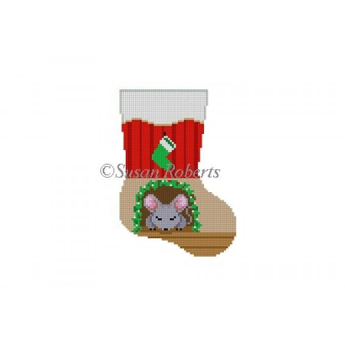 Sleeping Mouse Mini Sock Canvas