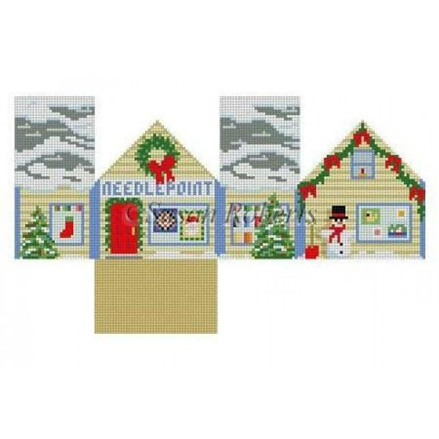 Needlepoint Shop Mini House-Needlepoint Canvas-Susan Roberts-KC Needlepoint