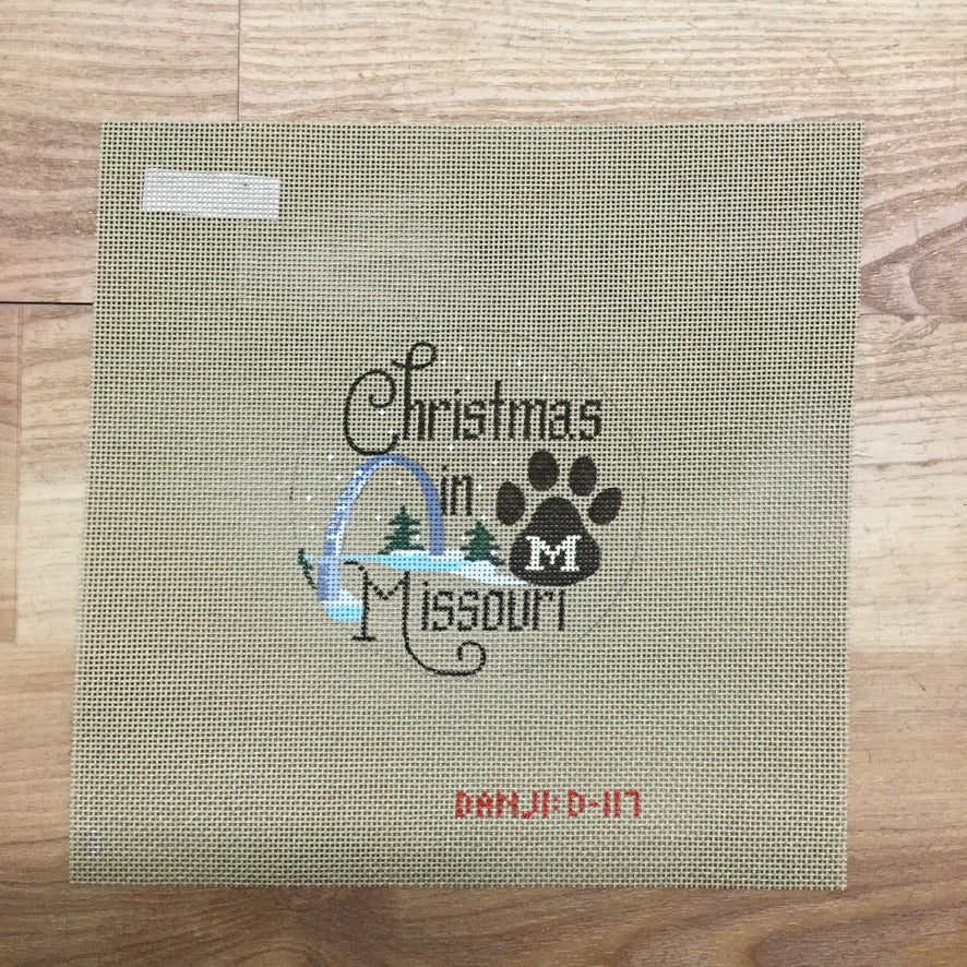 Christmas in Missouri Ornament Canvas - needlepoint