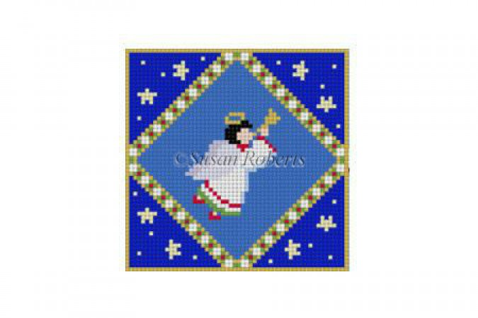 Boy Angel Diamond Canvas-Needlepoint Canvas-Susan Roberts-KC Needlepoint