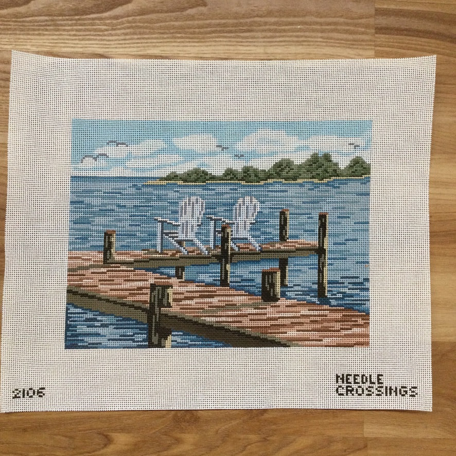 Water Watch Canvas - needlepoint