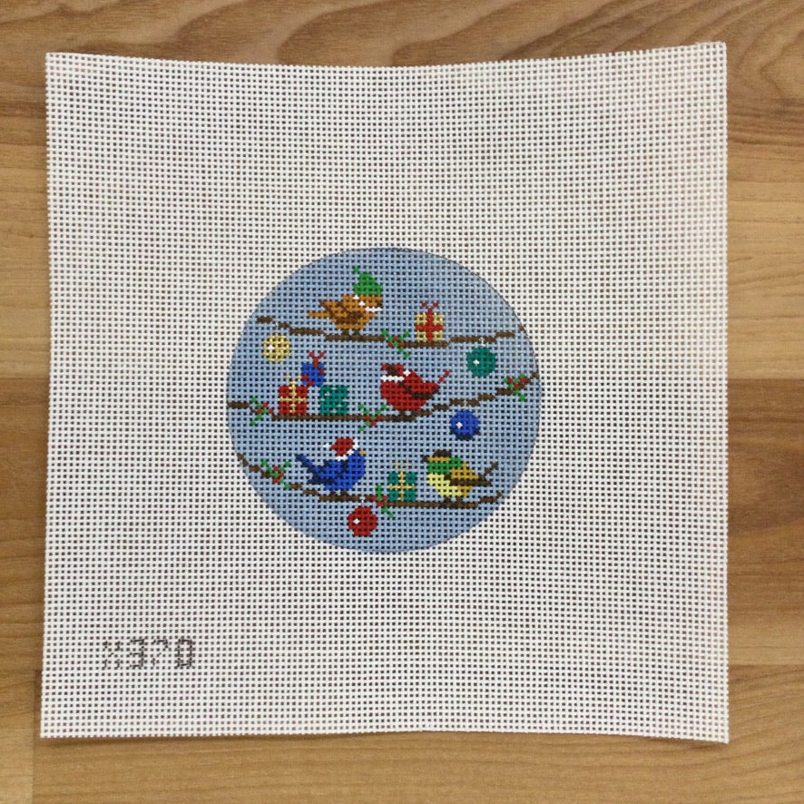 Birds and Packages  Canvas - needlepoint