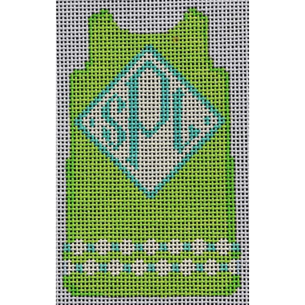 Lime Mini Shift Canvas-Needlepoint Canvas-Two Sisters Needlepoint-KC Needlepoint