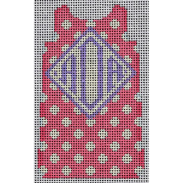 Polka Dot Mini Shift Canvas-Needlepoint Canvas-Two Sisters Needlepoint-Pink-KC Needlepoint