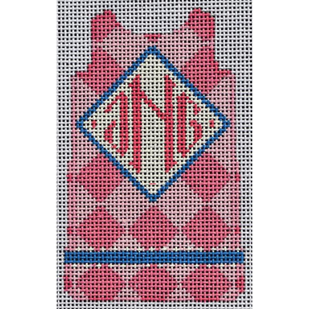 Pink Diamond Mini Shift Canvas-Needlepoint Canvas-Two Sisters Needlepoint-KC Needlepoint
