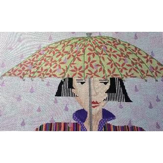 Rain Drops Needlepoint Canvas-The Collection-KC Needlepoint