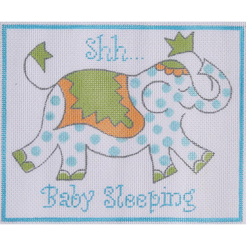 Shh.. Baby Sleeping Blue Canvas-Needlepoint Canvas-Kate Dickerson-KC Needlepoint