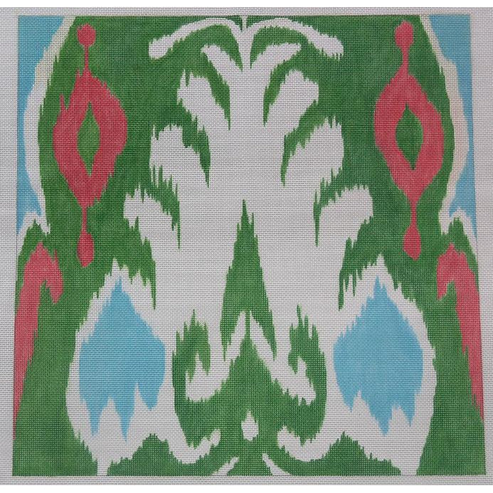 Ikat Needlepoint Canvas-Needlepoint Canvas-Kate Dickerson-KC Needlepoint