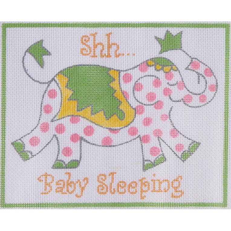 Shh.. Baby Sleeping Canvas - needlepoint