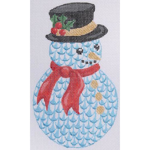 Herend Snowman Ornament Canvas-Needlepoint Canvas-Kate Dickerson-KC Needlepoint