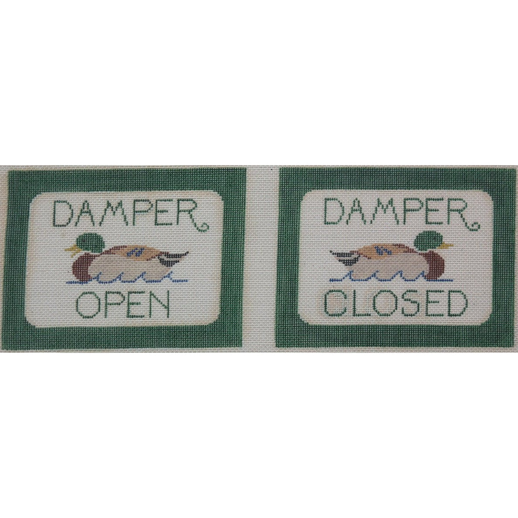 Damper Open/Closed Canvas - KC Needlepoint