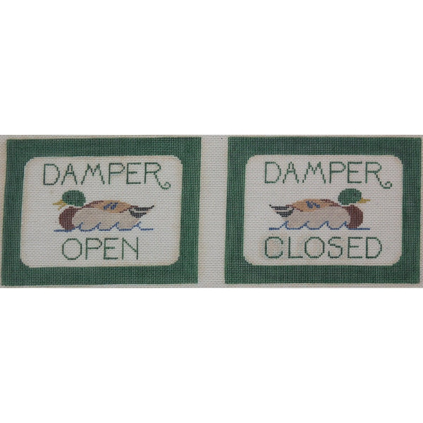 Damper Open/Closed Canvas - needlepoint