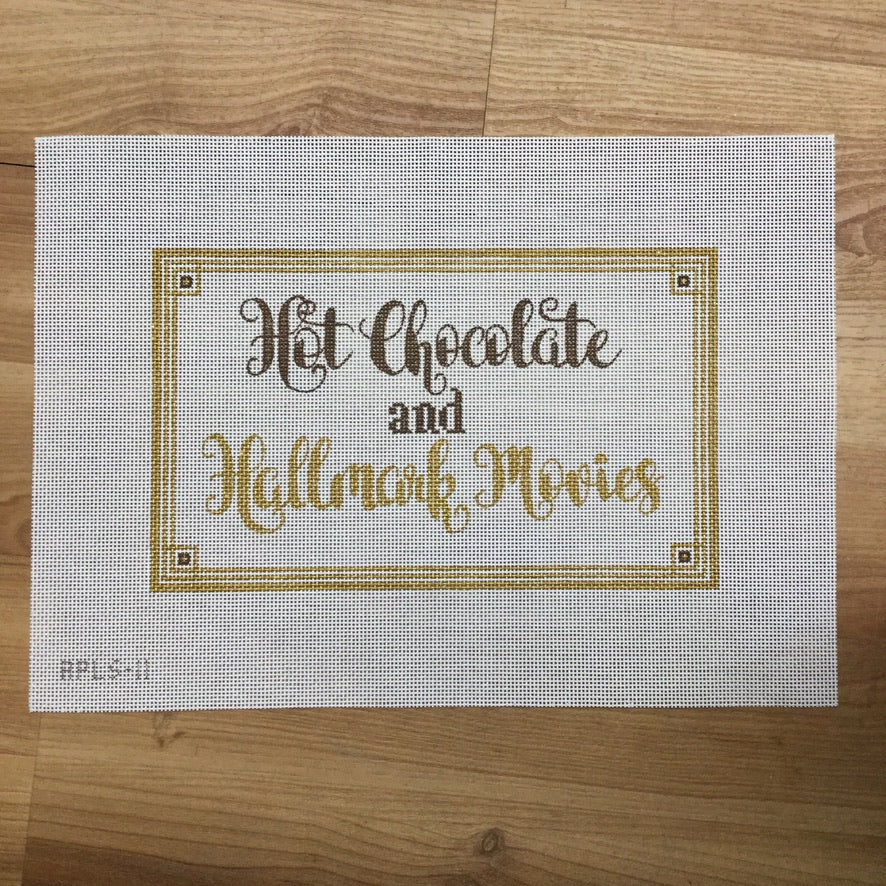 Hot Chocolate and Hallmark Movies Canvas-Needlepoint Canvas-Walker Wholesale-KC Needlepoint
