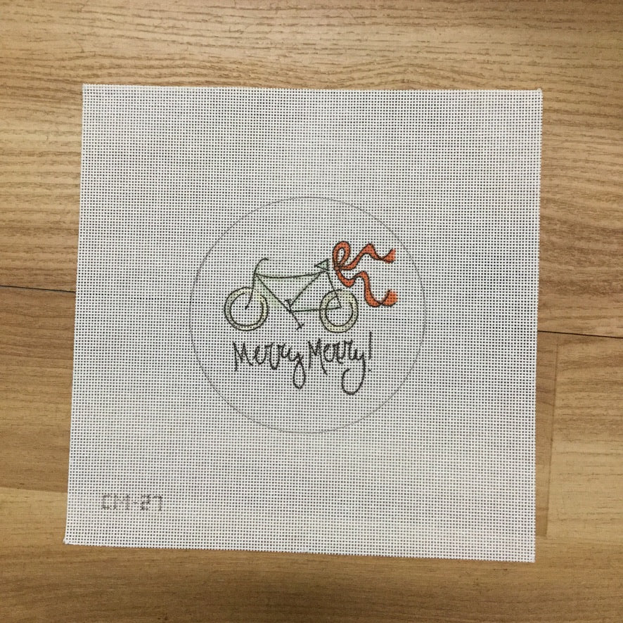 Bicycle Merry Canvas - needlepoint