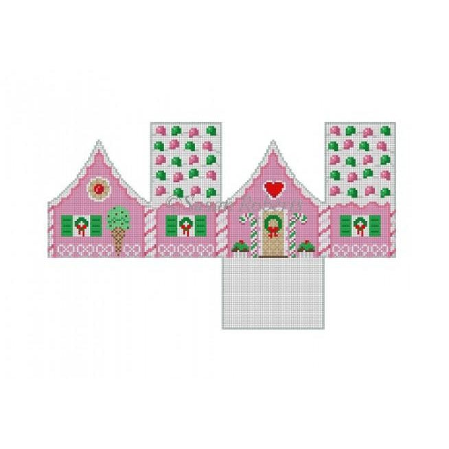 Gum Drops and Peppermint Gingerbread House Canvas - needlepoint