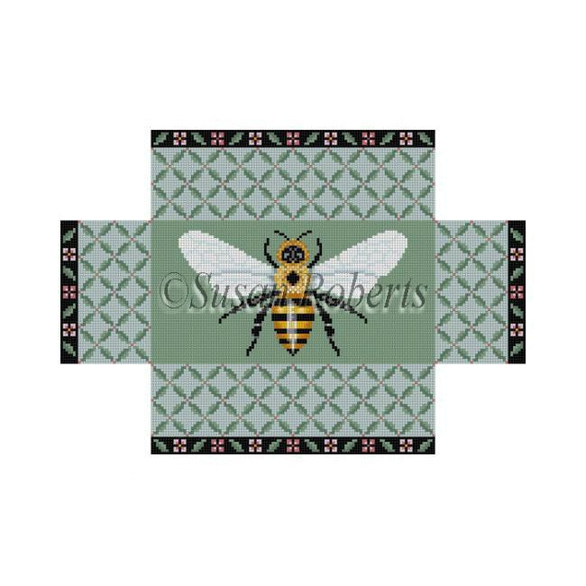 Leaf Trellis Bee Brick Cover Canvas