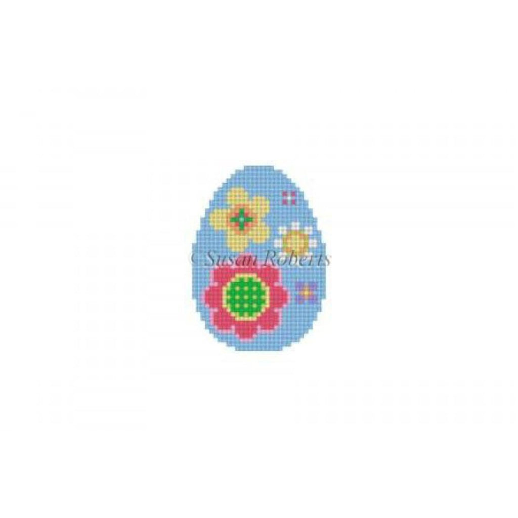 Flower Pops Mini Egg Canvas - needlepoint