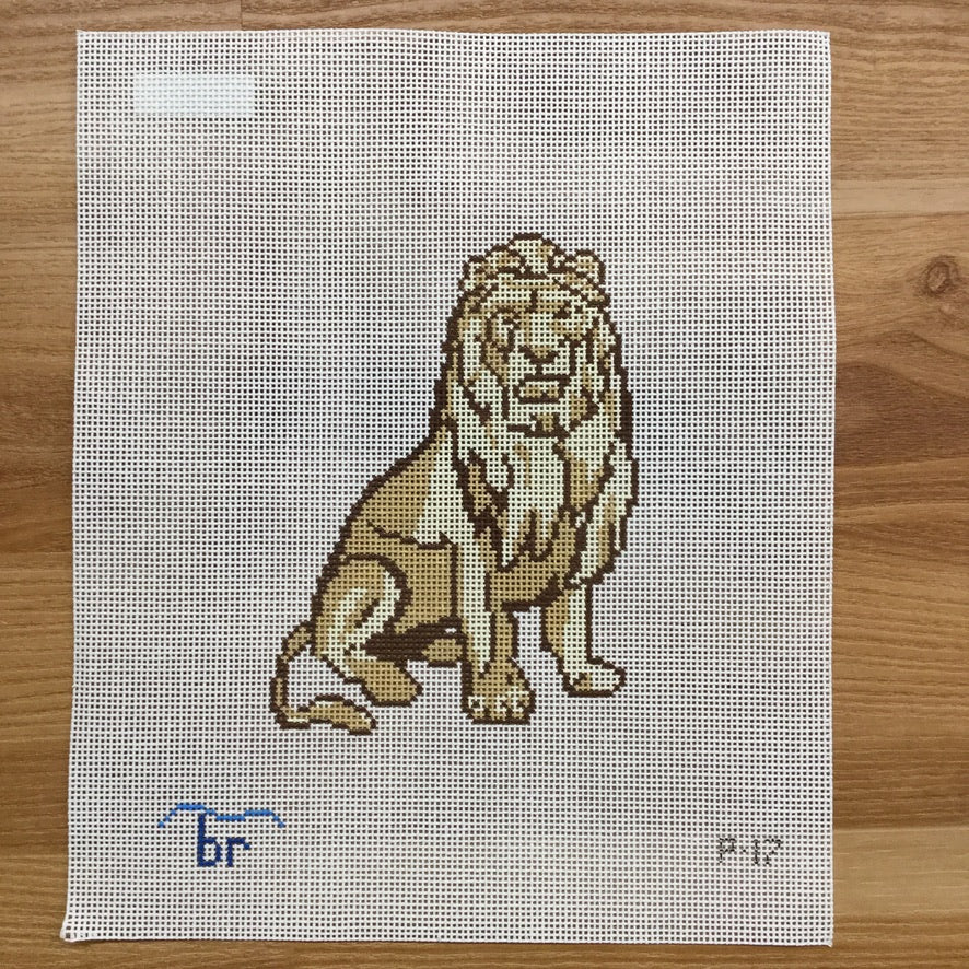 Ludwig the Lion Canvas - needlepoint