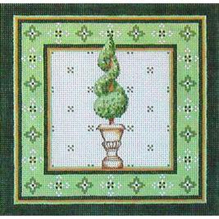 Spiral Topiary Needlepoint Canvas - needlepoint