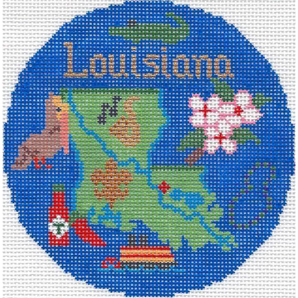 "Louisiana 4 1/4"" Round Needlepoint Canvas"