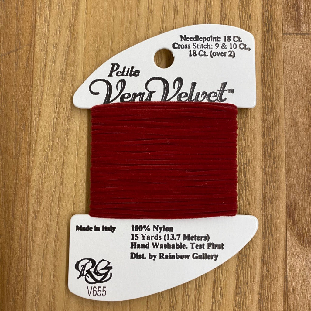 Petite Very Velvet V655 Dark Red - KC Needlepoint