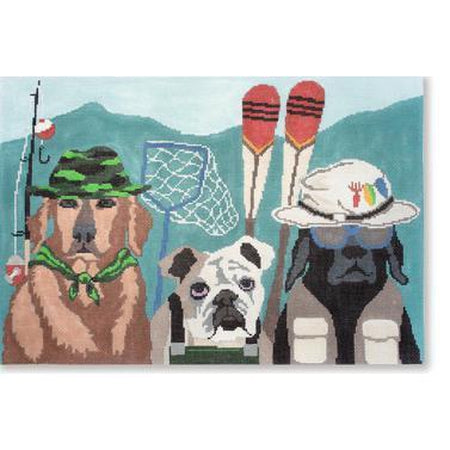 Fishing Patrol Canvas-Needlepoint Canvas-CBK Needlepoint-KC Needlepoint