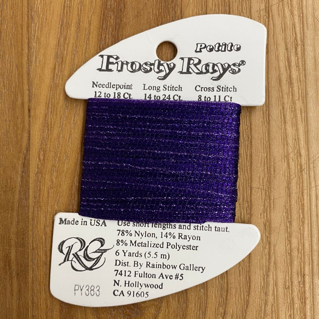 Petite Frosty Rays PY383 Royal Purple - KC Needlepoint