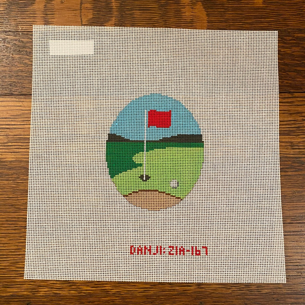 Golf Hole Canvas - needlepoint