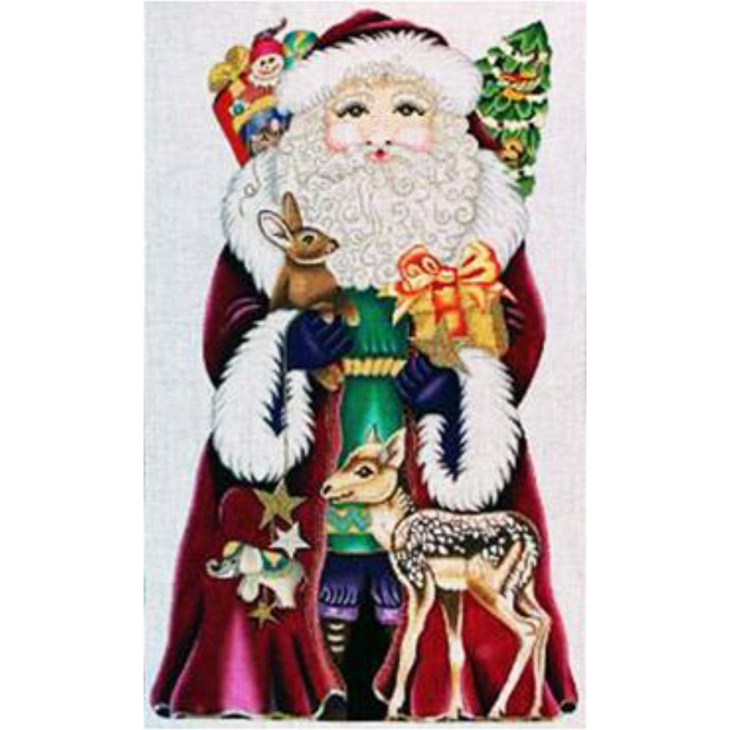 Magenta Santa Canvas AS IS-Needlepoint Canvas-Amanda Lawford Designs-KC Needlepoint