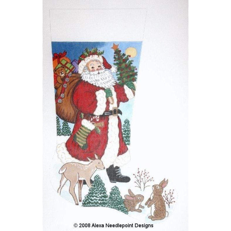 Alexa Christmas Stocking 7201-Needlepoint Canvas-Alexa Needlepoint Designs-13 mesh-KC Needlepoint