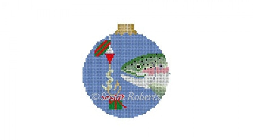 Fish Gift Round Canvas - needlepoint