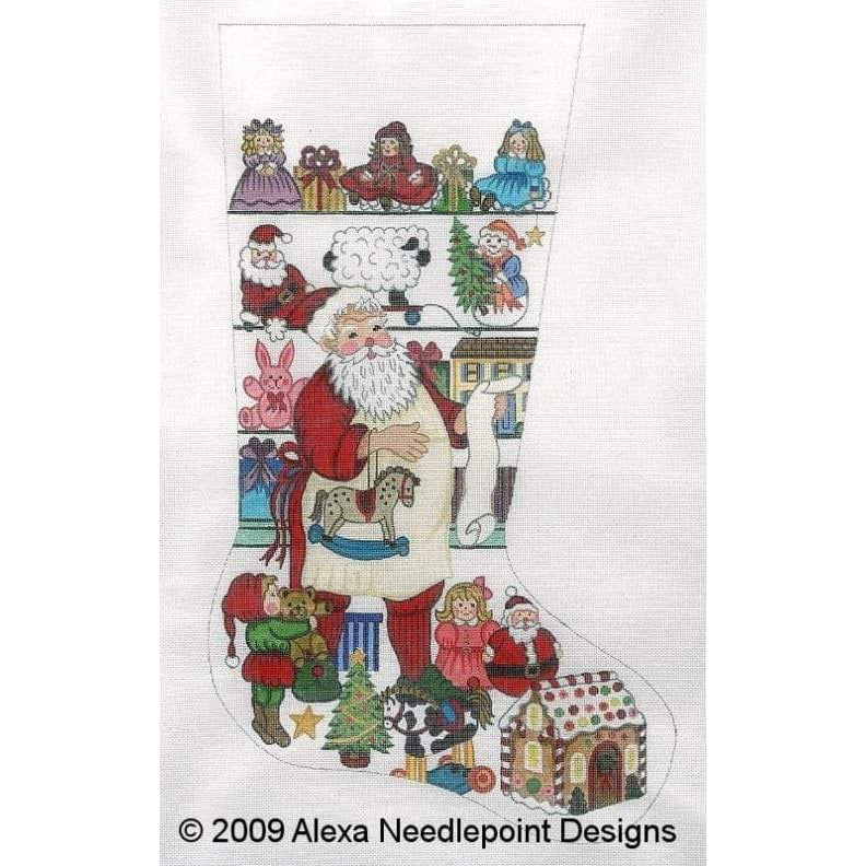 Alexa Needlepoint Stocking 7233-Needlepoint Canvas-Alexa Needlepoint Designs-KC Needlepoint