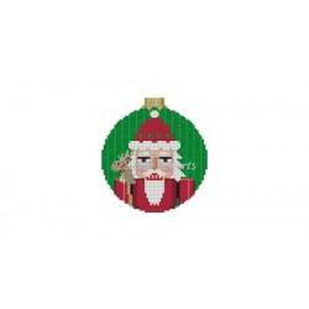 Santa Nutcracker Round Canvas