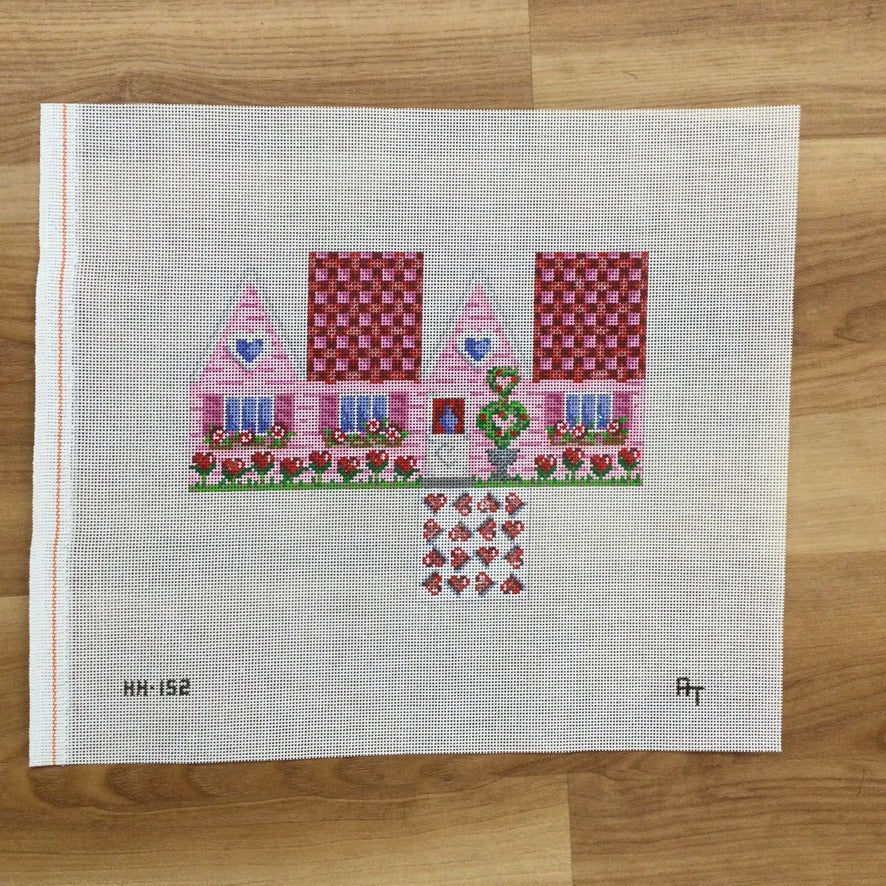 Valentine Cottage Canvas - needlepoint