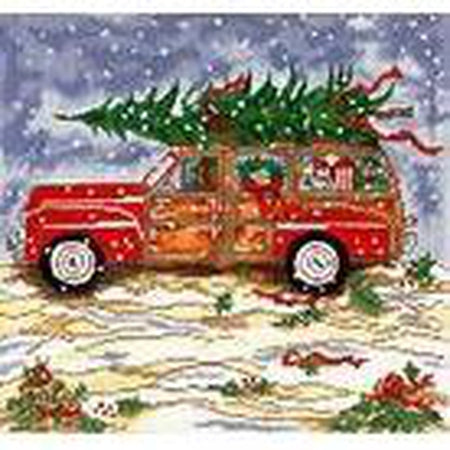 Large Christmas Woody Needlepoint Canvas - KC Needlepoint