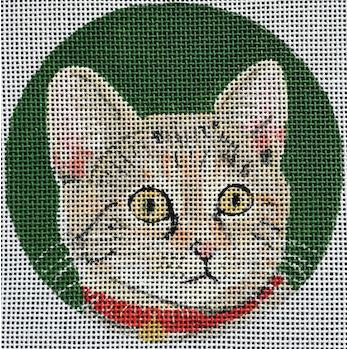 Calico Round Canvas - needlepoint