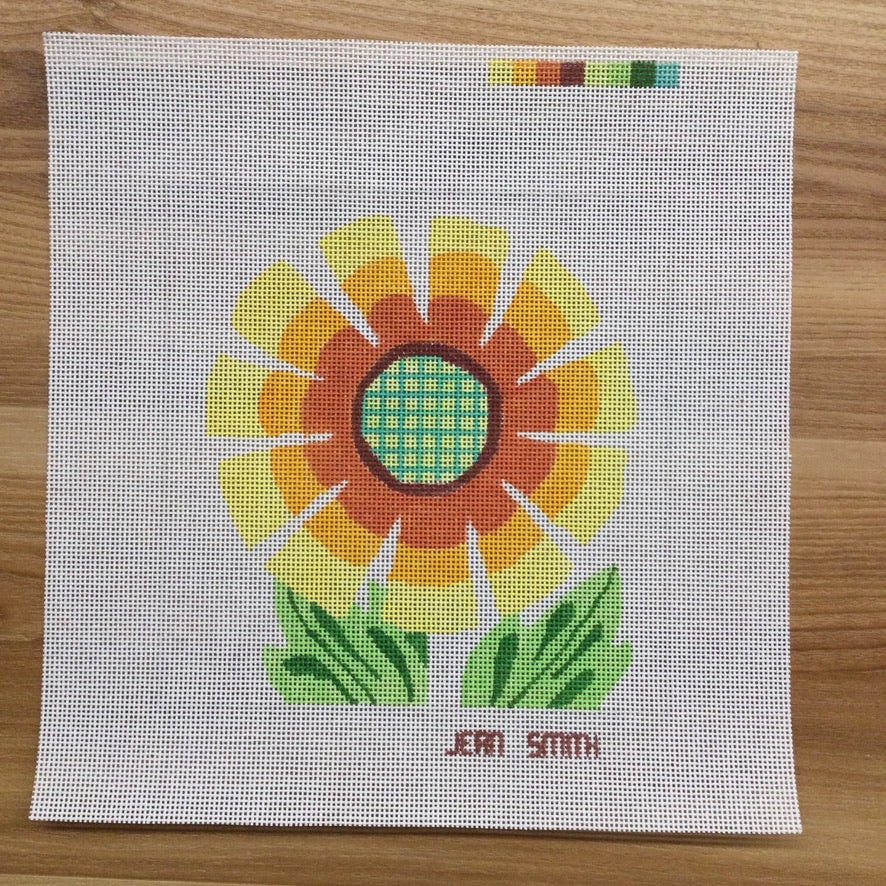 Alice's Flower #2 Needlepoint Canvas - needlepoint