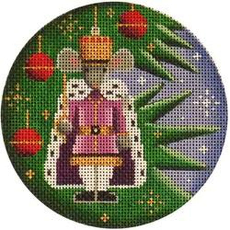 Mouse King Round Canvas-Needlepoint Canvas-Rebecca Wood Designs-KC Needlepoint