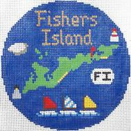 "Fisher's Island 4 1/4"" Travel Round Needlepoint Canvas"