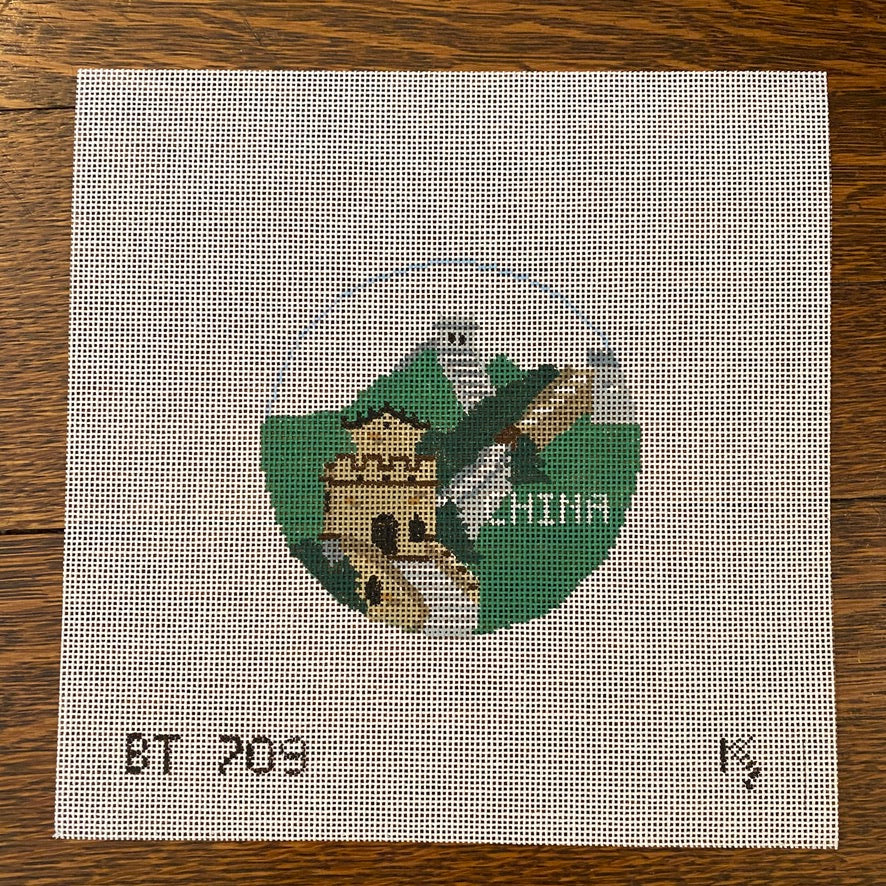 China Travel Round Canvas - needlepoint