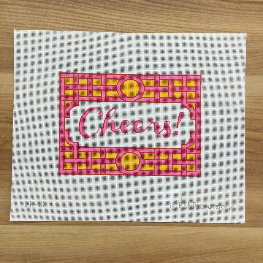 Cheers Needlepoint Canvas
