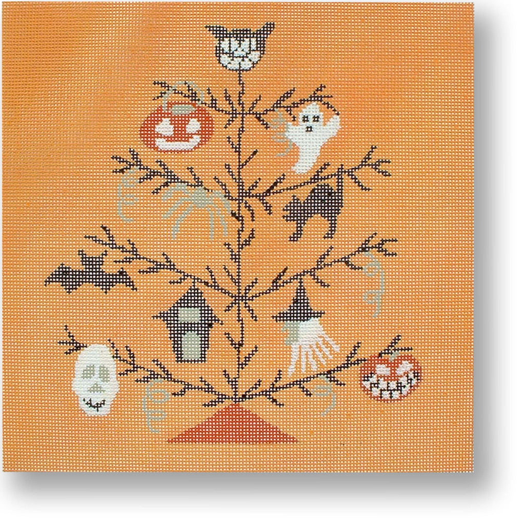 Halloween Tree Canvas-Needlepoint Canvas-CBK Needlepoint-KC Needlepoint