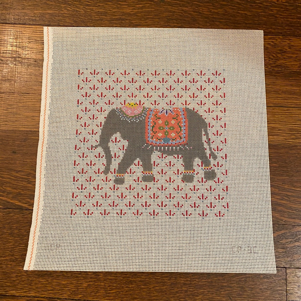 Elephant Canvas-Needlepoint Canvas-KC Needlepoint
