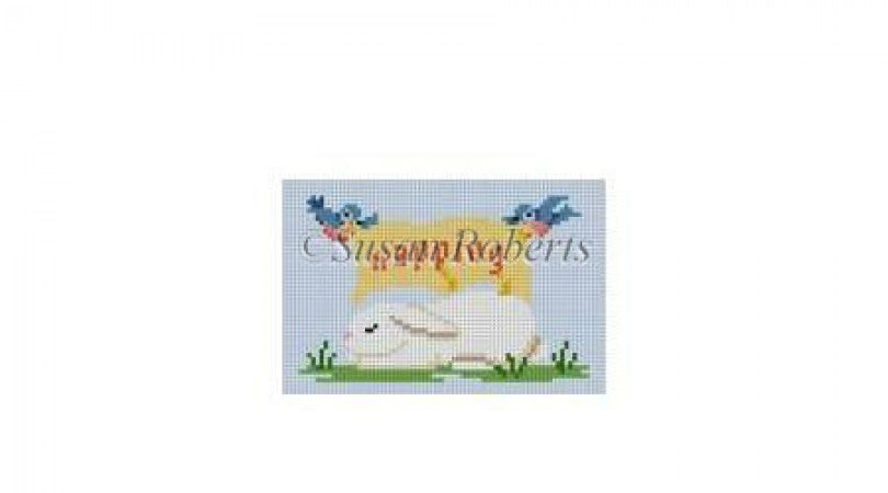 Napping Sleeping Bunny Canvas-Needlepoint Canvas-Susan Roberts-KC Needlepoint